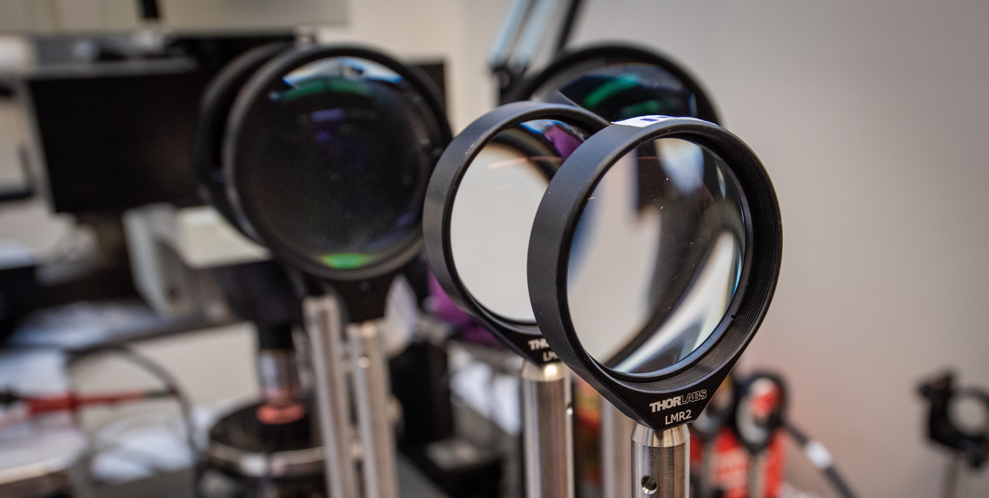 Magnifying Glass Research Equipment in Thermal Science Lab