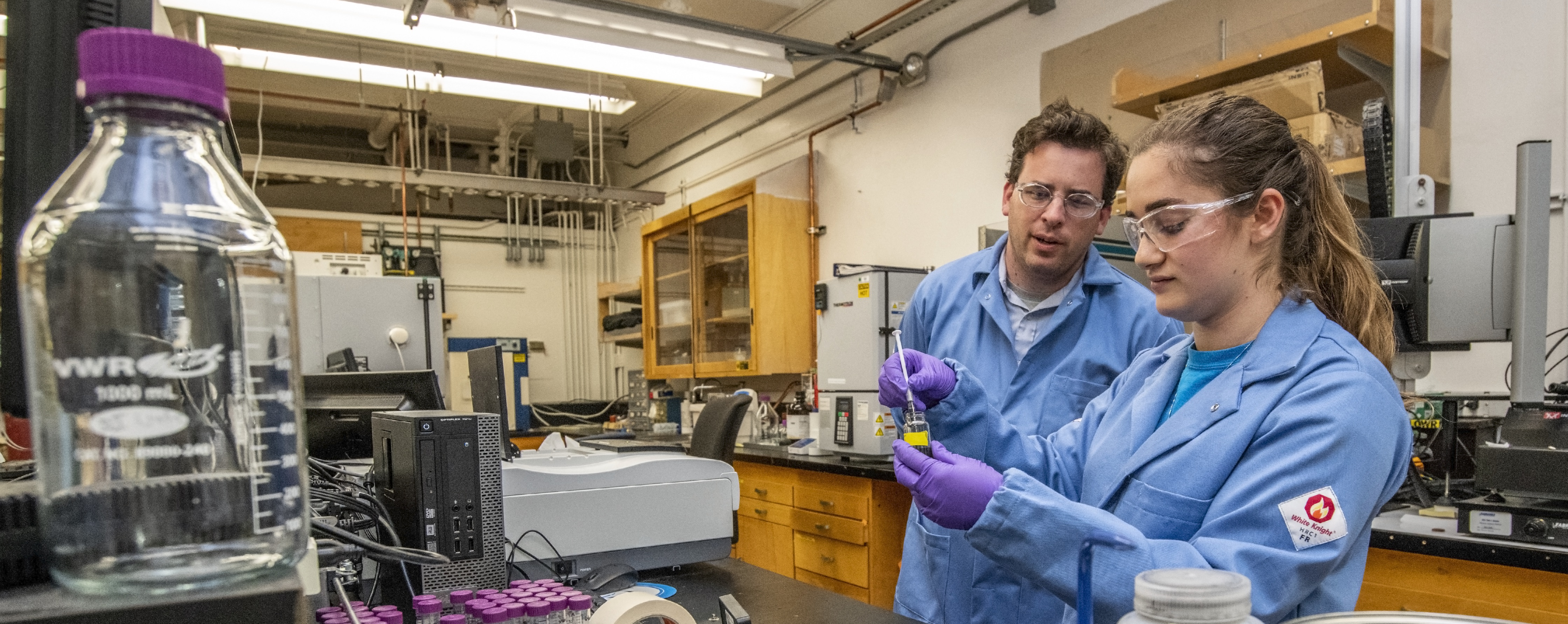 Adam Weber and Researcher in Weber Lab